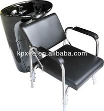 professional salon beauty fiber glass black shampoo basin adjustable chair