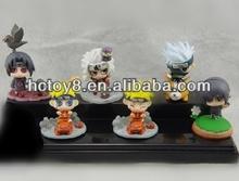 Wholesale hot japanese anime Naruto 6pcs a set pvc action figure