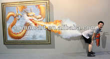 New arrival 100% hand-painted Dragon and Fire Decoration wall art High Quality 3D handmade oil painting