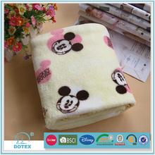 100% polyester douce tricoté à la main bébé couverture motif