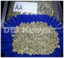 /arabica robusta chicchi di caffè verde