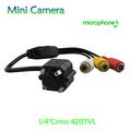 2013 nuevo llega el! Cmos 420TVL 3.6 mm lente MINI cámara de fotos con micrófono