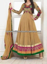 New Light brown color anarkali dress for UK girls