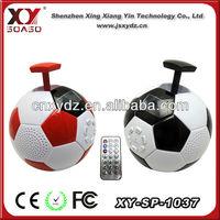 Hot selling for 2014 Brazil world cup SD card FM football speaker