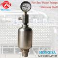 inoxidável concha de acumuladores de bexiga de água do mar bomba