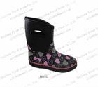 2013 lovely black neoprene rubber rain boots for kids