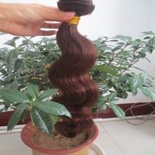 Eayon hair extensions : burgundy highlights on dark brown hair