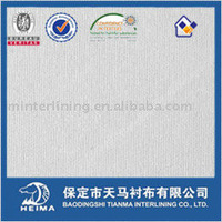 special fusible interlining for coated fabric & silicon processed fabric
