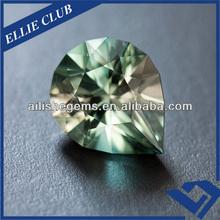Fancy Pear Lucky Light Green Lab Cubic Zircon Gemstone