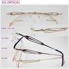 rimless designer eyeglasses for woman titanium