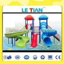 Twin water slide cheap water park play equipment LT-2083B