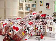 Kids mouse design 4pcs pure cotton children duvet covers