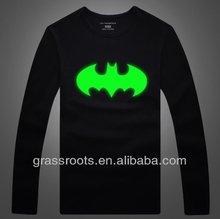 TX0080 Funny Customized Batman LOGO Grow in Dark Fluorescent Men's T shirt