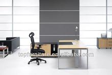 Metal Legs Contemporary Executive Office Desk