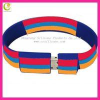 Fashion design silicone cheap usb flash drive bracelets,customized silicone bracelet usb for promotion item