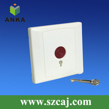 Professional key resettable emergency push button alarm