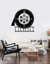 New idea film era room decorative wall sticker clock for sale
