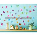 Mode bricolage auto adhésif pvc stickers muraux amovibles/décoration d'intérieur de maison photos.-- lettre mur de bande dessinée