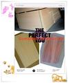 Guangzhou fábrica de carvalho/teca/madeira de cerejeira cor laminado melamínico mdf peg board