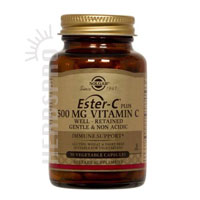 United States Seller:Ester-C Plus 500 mg Vitamin C Vegetable Capsules (Ester-C Ascorbate Complex) 500 mg 50 V Caps by Solgar