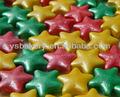 Arco-íris brilhante estrela forma pressionado candy