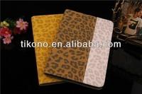 Dual color leopard leather case for ipad mini 2