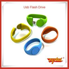 Custom usb wristband flash drive for promotional gift