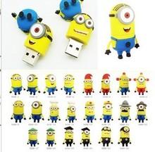 2015 hottest pvc minion usb, mini despicable me usb flash drive