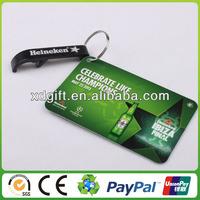 fashion beautiful aluminum credit card bottle opener(XD-3711)