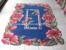 Hot Sale Artistic Floral Carpet Design Shaggy Carpet