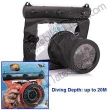 Hot Selling Black GQ-518 HD Universal Underwater Camera Waterproof Case, for DSLR camera Waterproof Diving Bag 20M Depth