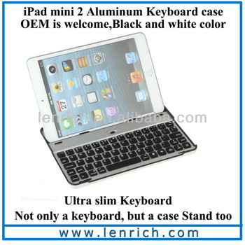 LBK131 Ultra Slim Wireless Bluetooth Keyboard Cover Case with Stand for iPad Mini