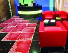 surfloor red color liquid vinyl tiles for floor
