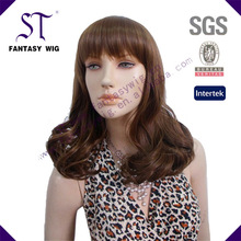 ST 2014 new style high qulity short curly fashionable middle brown synthetic wig(GF-W1628 #M6-10)