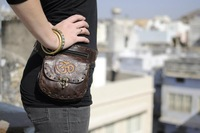hip waist travel leather bag belts/multi pockets/multi colours