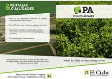 Alfalfa granules or pellets