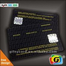 Best price fashional shinning laser hologram pvc card