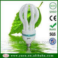 40W / 105W model 17mm tube lotus energy saving cfl bulb