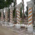 النمط الروماني عمود حجر الزخرفية