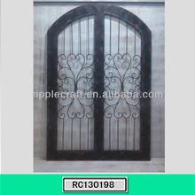 Wrought Iron Black Cheap Garden Gate Yard Gate