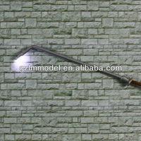 lighting 5cm T91 lamppost Street light ,Ho oo scale model train light/ Train railway layout scale model lamp