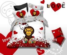 Cotton 3d brand bed sheets duvet cover set