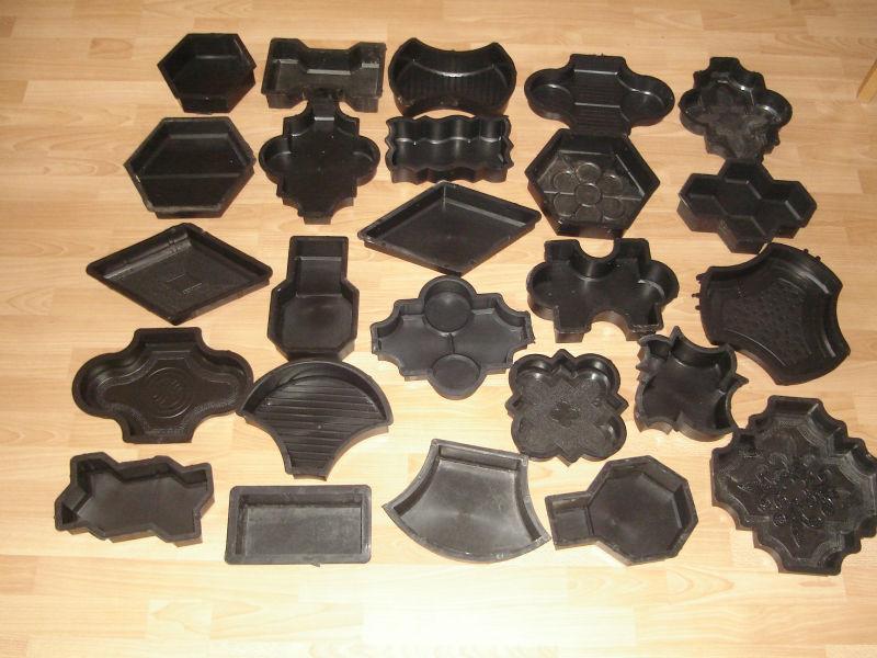 Moules en plastique pour fabrication de verrouillage pav s de pav s de b ton - Moule pour dalle beton ...