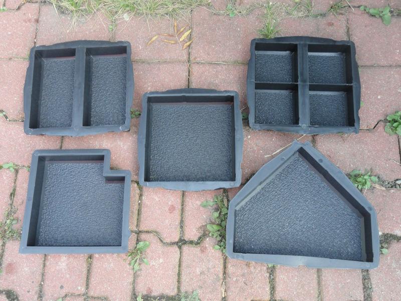 Moules en plastique pour fabrication de verrouillage b ton pav s de dalles mo - Moule pour dalle beton ...