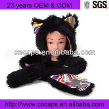 Long Animal Hats Bear Faux Fur Warm Winter Animal Bear Hats