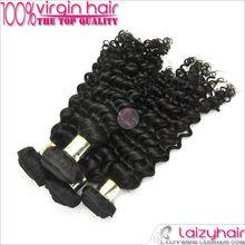Wholesale for hair virgin brazilian hair deep curly,the vigin hair weft
