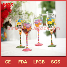 Promotional clear wholesale wine glasses/goblet/glass wine cup