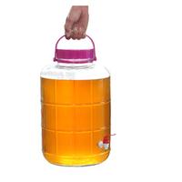 Unique design large glass juice jars with tap wholesale