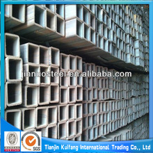 Bright galvanized construction square and rectangular welded steel pipes