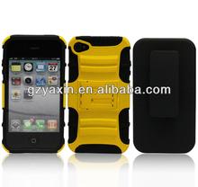 Fashion kickstand anti shock silicon case for iphone 5